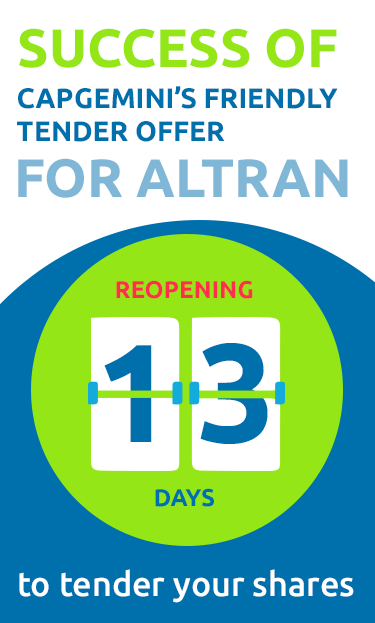 Public offer for the purchase of Altran shares by Capgemini