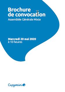 Brochure de convocation